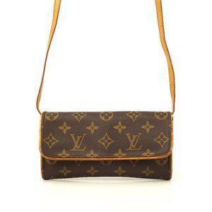 Auth Louis Vuitton Pochette Twin Pm #6762L16